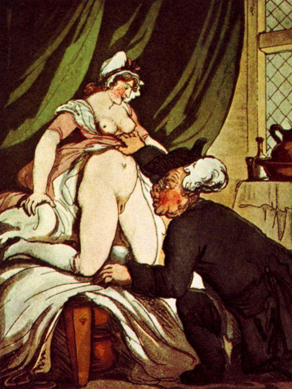 Thomas Rowlandson - L'indiscrétion du pasteur, 1808-1817.