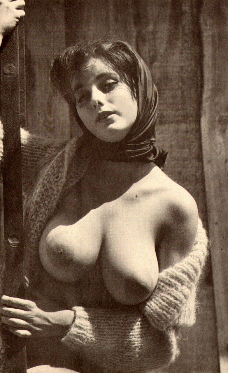 Retro vintage big boobs nude very